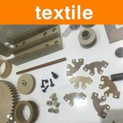 PEEK Parts in Textile Machinery Side Scraper Hexagon Sleeve Screw Nut Components