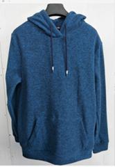 Man polar fleece with hood and pocket