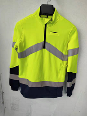 Man reflective wear work clothing