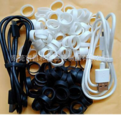 Rubber band for data line binding