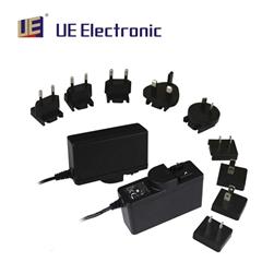 高品质插墙式多国转换头18W医疗电源适配器