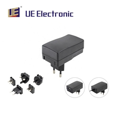 插墙式多国插头6W医疗电源符合六级能效安规认证齐全
