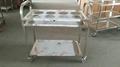 stainless steel kitchen trolley cart  2