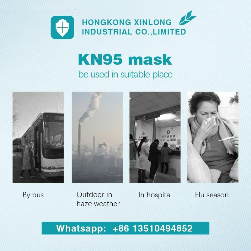 Niosh FFP2 particulate respirator disposable protective surgical N95 face mask  5