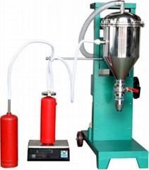 GFM16-1半自动型灭火器干粉灌装机鸿源厂家发货