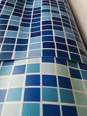 泳池膠膜PVC防滑地板 馬賽克