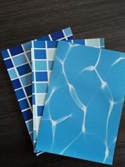 泳池胶膜PVC防滑地板水波纹