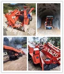 小型隧道扒渣机 矿用扒渣机 轮式皮带扒渣机