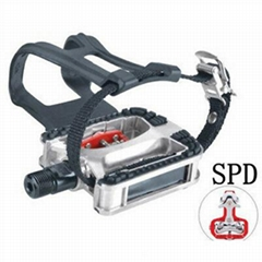 Exercise Spinning Bike Pedals Straps Toe Clip Cleats/SPD 9/16 5/8 M18 M20 JD-304