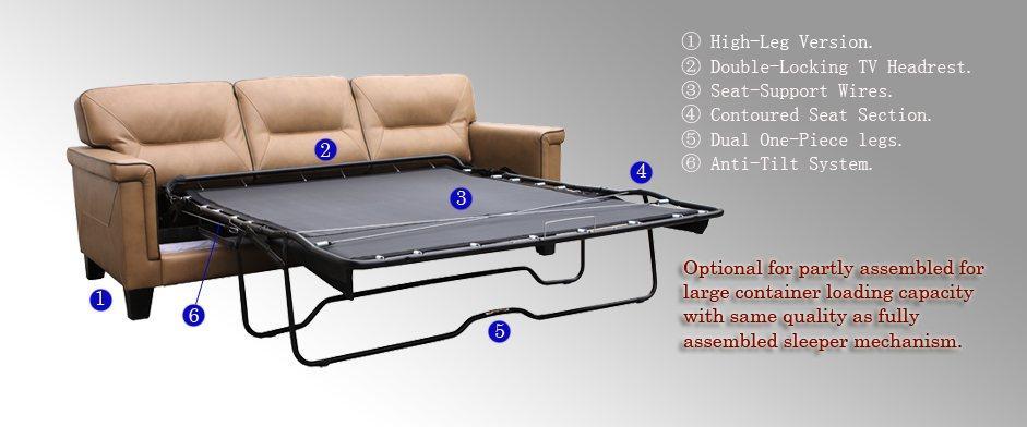 LINKREST 二折沙發床架2660高腳款 2