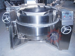 Gas boiling pot   Gas vacuum jacketed kettle china  gas tilting kettle