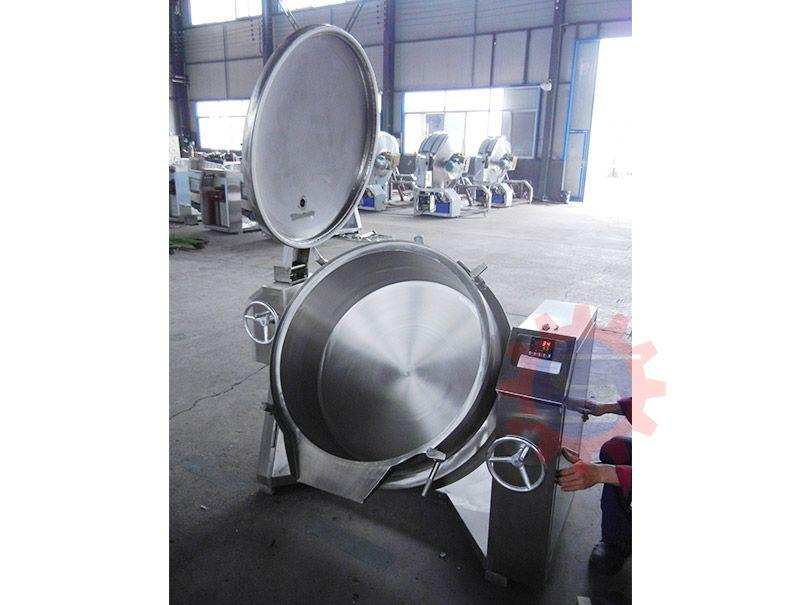 Gas jacketed boiling pot   industrial steam kettle   jacketed kettle price 1