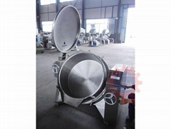 Gas jacketed boiling pot   industrial steam kettle   jacketed kettle price