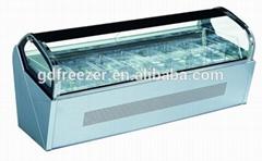 6 or 8 pans Counter top Ice cream display freezer