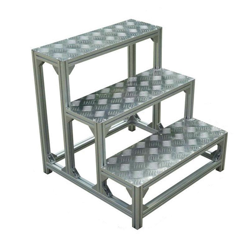 百利恆鋁合金踏步平台工業爬梯凳登高平台防滑踏板機床踏台踏步梯 3