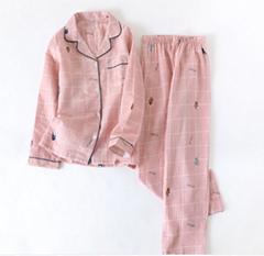 Women's print long sleeve pajamas