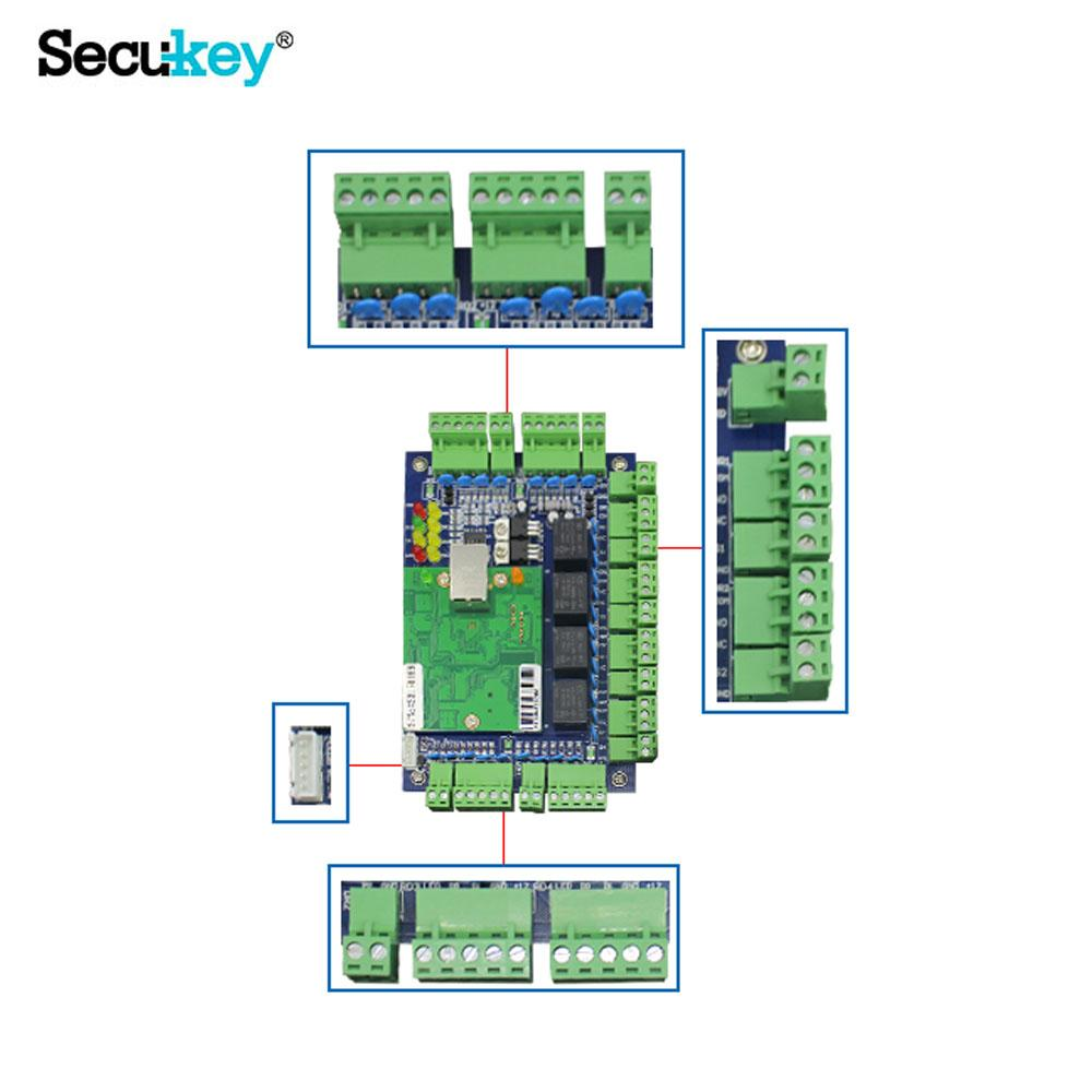 Free Software 4 doors Controller wiegand access control board 3