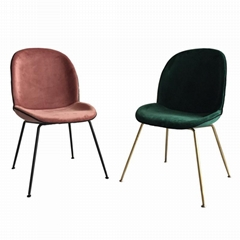Home Furniture fully upholstered Ve  et Gubi beetle dining chair with metal legs