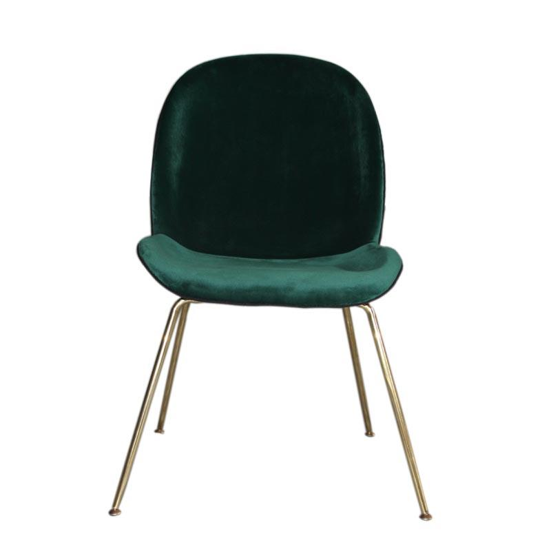 Home Furniture fully upholstered Ve  et Gubi beetle dining chair with metal legs 2