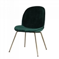 Home Furniture fully upholstered Ve  et Gubi beetle dining chair with metal legs 3