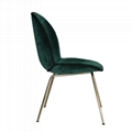 Home Furniture fully upholstered Ve  et Gubi beetle dining chair with metal legs 4
