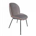 Home Furniture fully upholstered Ve  et Gubi beetle dining chair with metal legs 5
