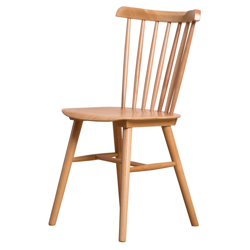 replica designer furniture solid wood spindle dining room chairs 1