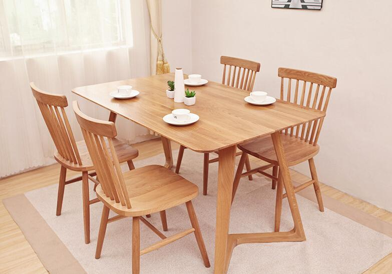 replica designer furniture solid wood spindle dining room chairs 2