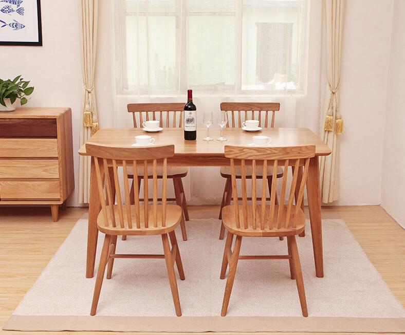 replica designer furniture solid wood spindle dining room chairs 3