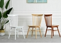 replica designer furniture solid wood spindle dining room chairs 4