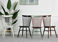 replica designer furniture solid wood spindle dining room chairs 5