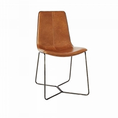 Replica Designer Furniture leather slope dining chair