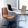 Replica Designer Furniture leather slope dining chair 3