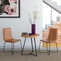 Replica Designer Furniture leather slope dining chair 4