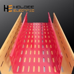 Textured Powder Coated Ventilated or Perforated Trough Cable Trays