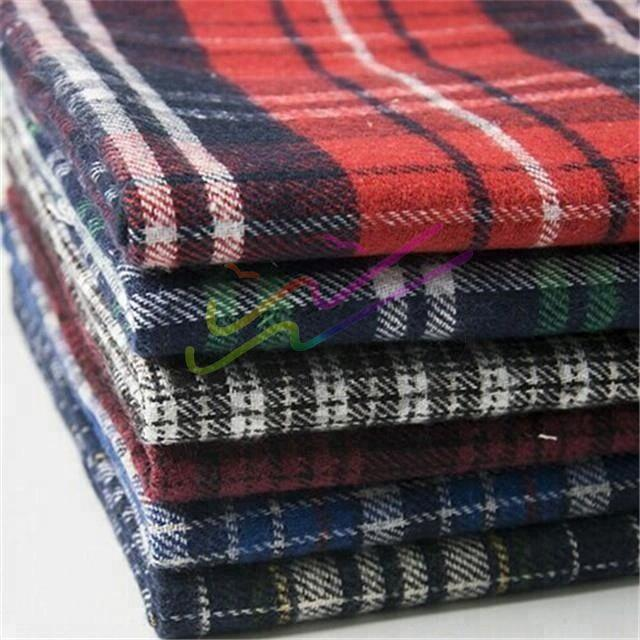 Brushed check cotton flannel fabric for shirt 1