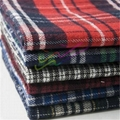Brushed check cotton flannel fabric for