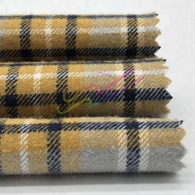 Brushed check cotton flannel fabric for shirt 2