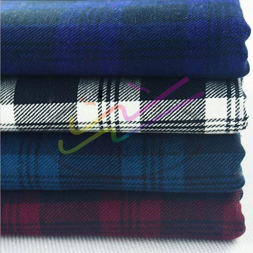 100% cotton gingham twill fabric 1