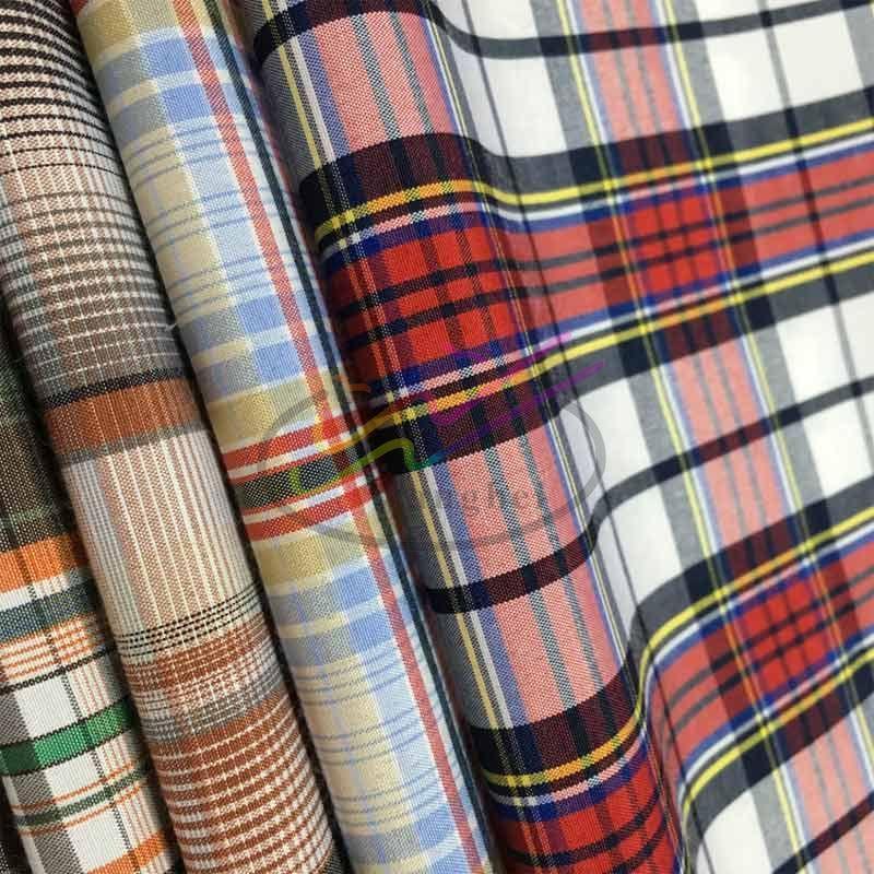 CVC check and stripe shirt fabric 1