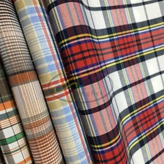 CVC check and stripe shirt fabric