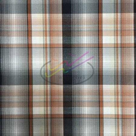 CVC check and stripe shirt fabric 2