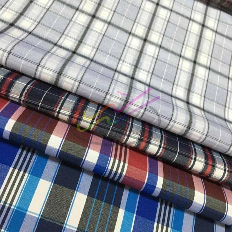 CVC check and stripe shirt fabric 3