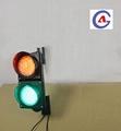 300mm waterproof 12v dc street education intelligent red green led traffic light 4