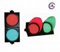 300mm waterproof 12v dc street education intelligent red green led traffic light 5