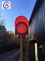 300mm yellow/red rechargeable led solar flashing traffic signal warning light 4