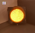 300mm yellow/red rechargeable led solar flashing traffic signal warning light 2