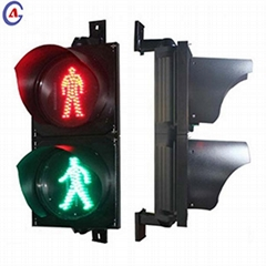 2 section red green road crossing LED pedestrian traffic signal light