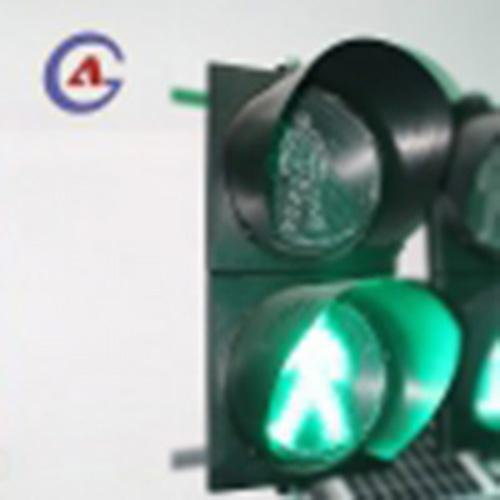 2 section red green road crossing LED pedestrian traffic signal light  2