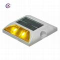 Aluminum One way 2pcs led solar flashing reflective traffic road stud cat eye